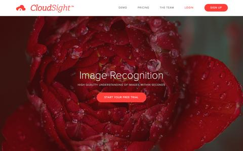 Screenshot of Home Page cloudsight.ai - Image Recognition API & Visual Search Results | CloudSight AI - captured Jan. 6, 2017