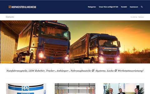 Screenshot of Blog hofmei.de - Nutzfahrzeugteile, Werkzeug, Lack und Zubehör | Hofmeister & Meincke - captured Sept. 29, 2018