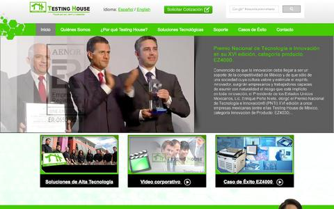 Screenshot of Home Page testinghouse.com.mx - Bienvenidos a Testing House México - captured Aug. 15, 2015