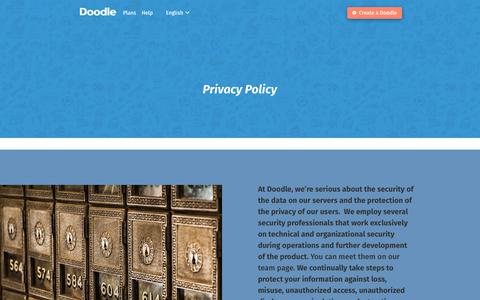 Privacy Policy – Doodle's Content Pages