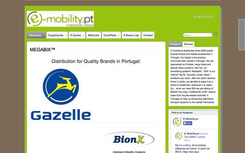 Screenshot of Home Page e-mobility.pt - Urban Mobility solutions in Portugal, powered by e-mobility-systems.com - captured Oct. 1, 2014