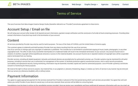 Screenshot of Terms Page betaimages.com - Terms of Service | Beta Images - captured Oct. 5, 2014