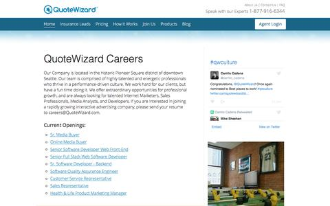 Career Opportunities | QuoteWizard