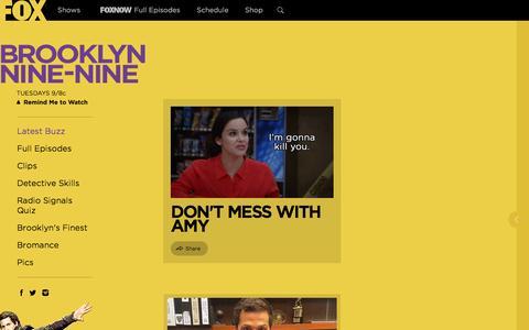 Screenshot of fox.com - Brooklyn Nine-Nine - TV Series News, Show Information - FOX - captured March 20, 2016