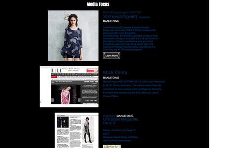 Screenshot of Press Page danles-lab.com - NEWS About Danle Ding - captured Nov. 22, 2016