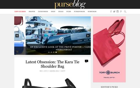 Screenshot of Home Page purseblog.com - PurseBlog - Designer Handbag Reviews and Shopping - captured Dec. 2, 2015