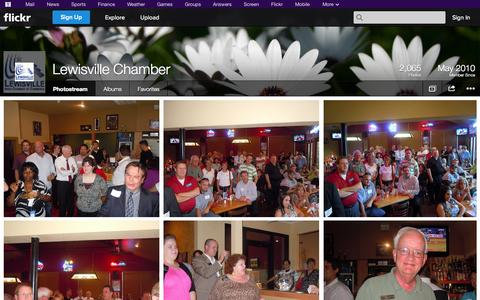 Screenshot of Flickr Page flickr.com - Flickr: Lewisville Chamber's Photostream - captured Oct. 22, 2014