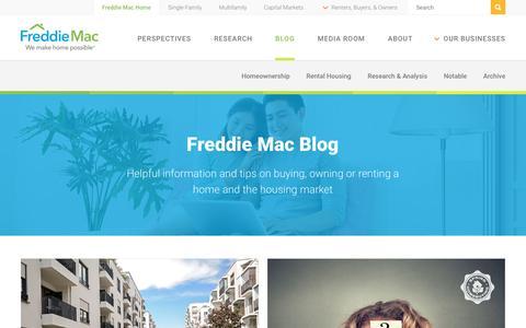 Screenshot of Blog freddiemac.com - Freddie Mac Blog - captured May 17, 2017