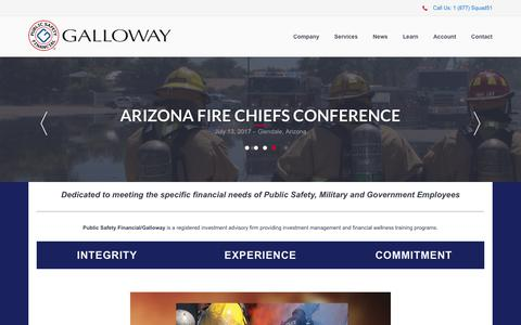 Screenshot of Home Page galloway911.com - Galloway Asset Management | Home - captured July 16, 2017