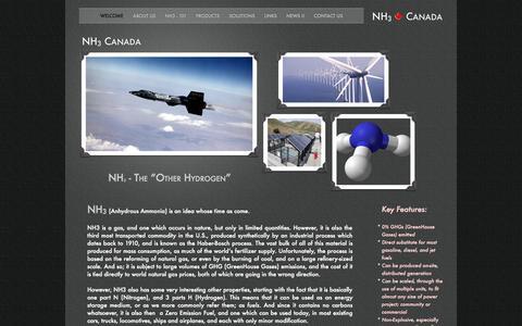 Screenshot of Home Page nh3canada.com - NH3 Canada - captured Aug. 17, 2015