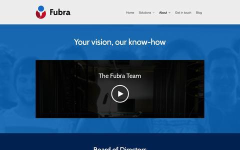Screenshot of Team Page fubra.com - Meet the Team - Fubra - captured Sept. 25, 2014