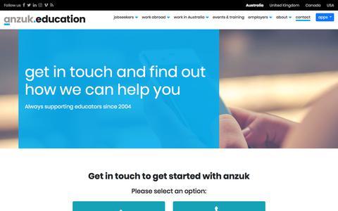 Screenshot of Contact Page anzuk.education - anzuk Education - captured July 21, 2019