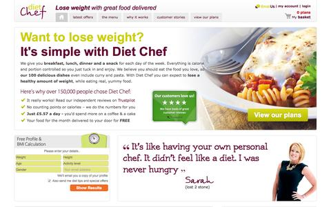 Lose weight with great food delivered | FREE Delivery | Diet Chef