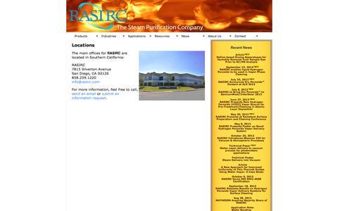 Screenshot of Locations Page rasirc.com - Locations :: RASIRC - captured Oct. 7, 2014