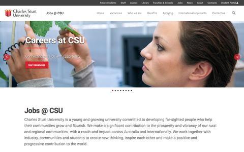 Screenshot of Jobs Page csu.edu.au - Jobs @ CSU - Jobs @ CSU - captured Sept. 22, 2018