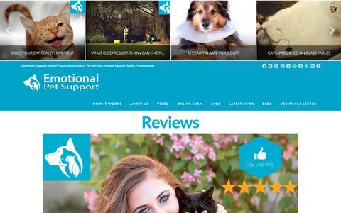 Screenshot of Testimonials Page emotionalpetsupport.com - Reviews ShopperApproved - Emotional Pet Support - captured Nov. 2, 2018