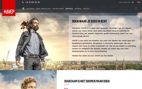 Screenshot of Services Page havep.com - Doen waar je goed in bent | HAVEP - captured Oct. 19, 2017