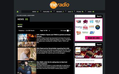 Screenshot of Press Page meradio.sg - MeRadio - Music News - captured Sept. 27, 2018
