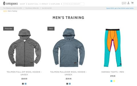 Men's Training – Cotopaxi - Gear For Good