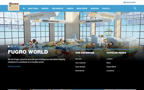 Screenshot of Home Page fugro.com - Fugro World Wide - captured March 14, 2017