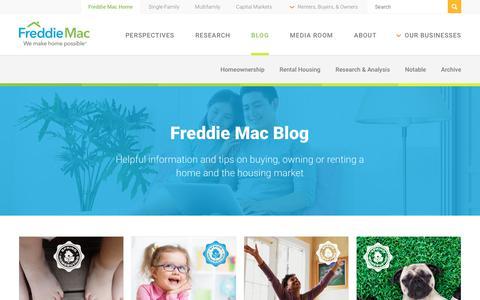 Screenshot of Blog freddiemac.com - Freddie Mac Blog - captured May 4, 2018