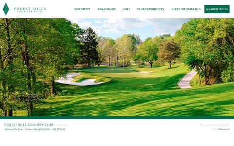 Screenshot of Home Page foresthillscc.net - Home - Forest Hills Country Club - captured Nov. 25, 2016
