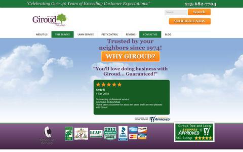 Screenshot of Contact Page giroudtree.com - Contact Giroud Tree and Lawn | Giroud Tree and Lawn Service - captured Sept. 28, 2018