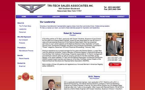 Screenshot of Team Page tri-techsales.com - TRI-TECH Sales Associates  |  Tel: (631) 642-0087 - captured Oct. 7, 2014
