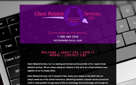 Screenshot of About Page clientrelatedservices.com - About | Client Related Services, LLC. — Client Related Services - captured Oct. 2, 2014