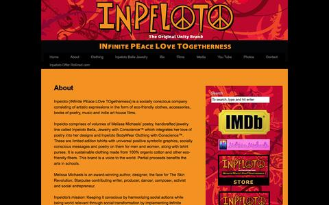 Screenshot of About Page inpeloto.com - About | Inpeloto - captured Sept. 30, 2014