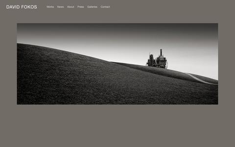 Screenshot of Home Page davidfokos.net - David Fokos - captured Oct. 7, 2018