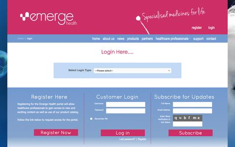 Screenshot of Login Page emergehealth.com.au - login - captured Jan. 28, 2016
