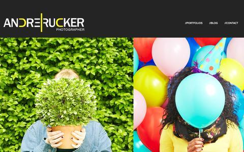 Screenshot of Home Page andrerucker.com - ANDRE RUCKER PHOTOGRAPHY - captured Oct. 4, 2014