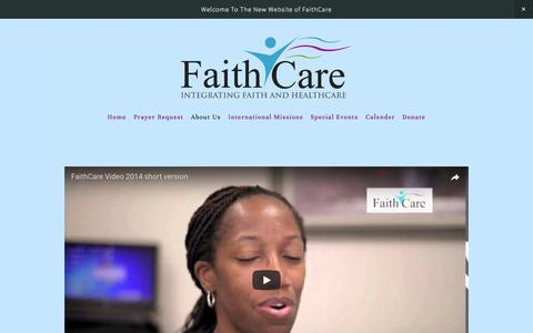 Screenshot of About Page faithcare.net - About Us — Faith Care - captured Oct. 13, 2017