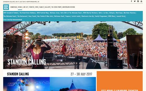 Screenshot of Press Page standon-calling.com - NEWS - Standon Calling - captured Sept. 1, 2016