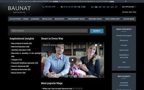 Screenshot of Blog baunat.com - Inspirational insights - BAUNAT blogs - captured July 12, 2018