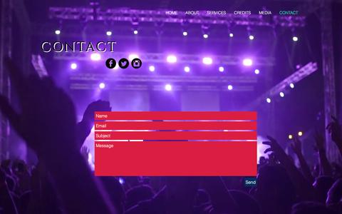 Screenshot of Contact Page media51.com - media51 | CONTACT - captured Nov. 28, 2016