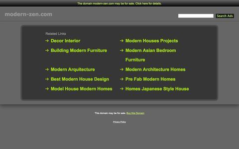 Screenshot of Home Page modern-zen.com - Modern-Zen.com - captured Sept. 30, 2014