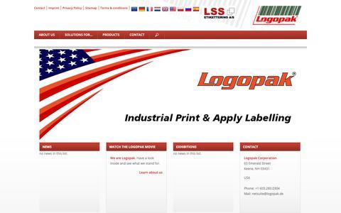 Screenshot of Home Page logopakcorp.com - Logopak: Labelling systems - captured Nov. 11, 2018
