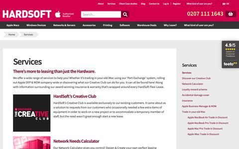 Screenshot of Services Page hardsoftcomputers.co.uk - Services - Hardsoft - captured Nov. 4, 2018