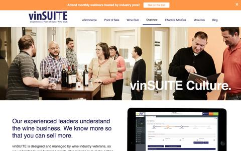 Screenshot of About Page vinsuite.com - About vinSUITE - captured May 4, 2017