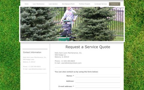 Screenshot of Contact Page kellykarelawn.com - Kelly Kare Lawn Maintenance Inc - Lawn Care - Contact Us - captured Oct. 17, 2017