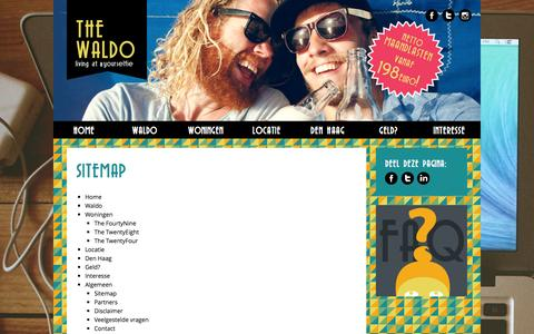 Screenshot of Site Map Page thewaldo.nl - Sitemap   The Waldo - captured Sept. 30, 2014
