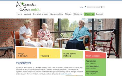 Screenshot of Team Page wilgaerden.nl - Management | Wilgaerden - West-Friesland - captured Aug. 17, 2016