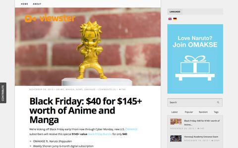 Screenshot of Blog viewster.com - Viewster Blog | - captured Dec. 3, 2015