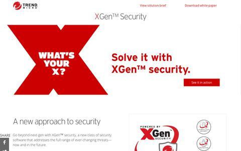 XGen™Security | Trend Micro