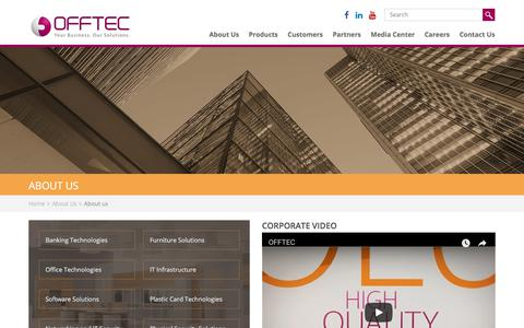 Screenshot of About Page offtec.com - OFFTEC's Company Profile - captured Nov. 12, 2017