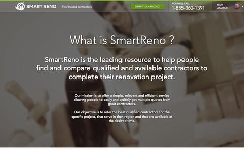 Screenshot of About Page smartreno.com - About Us | SmartReno - captured Sept. 17, 2014
