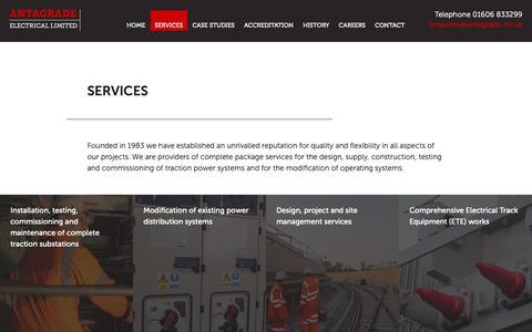 Screenshot of Services Page antagrade.co.uk - Services | Antagrade - captured Oct. 3, 2018