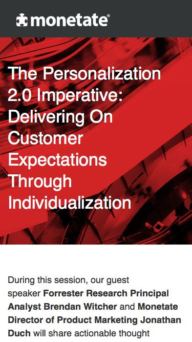 Webinar: The Personalization 2.0 Imperative: Delivering On Customer Expectations Through Individualization
